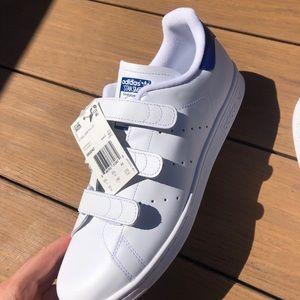 NWT Adidas Velcro Stan Smiths - sz 10 mens
